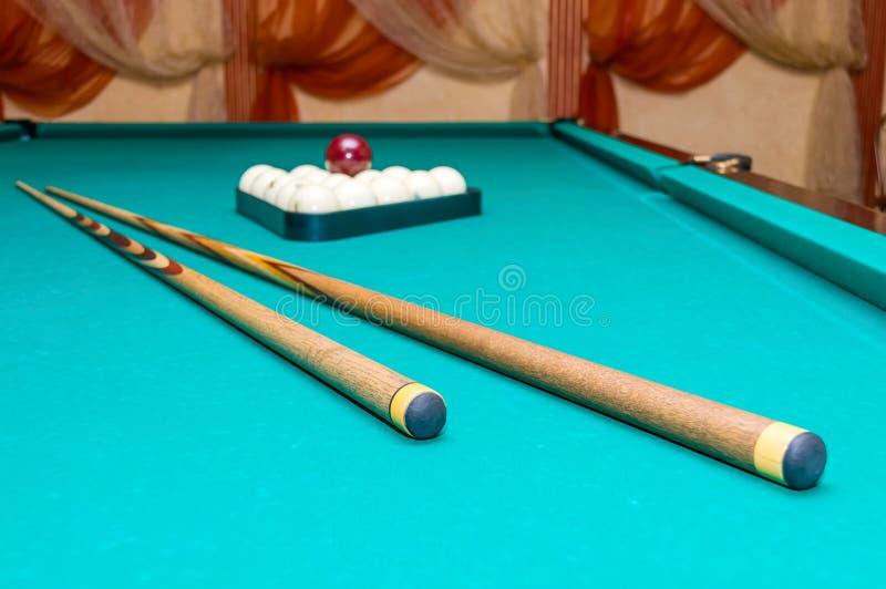 Przedmioty Dla Rosyjskich Billiards zdjęcia stock