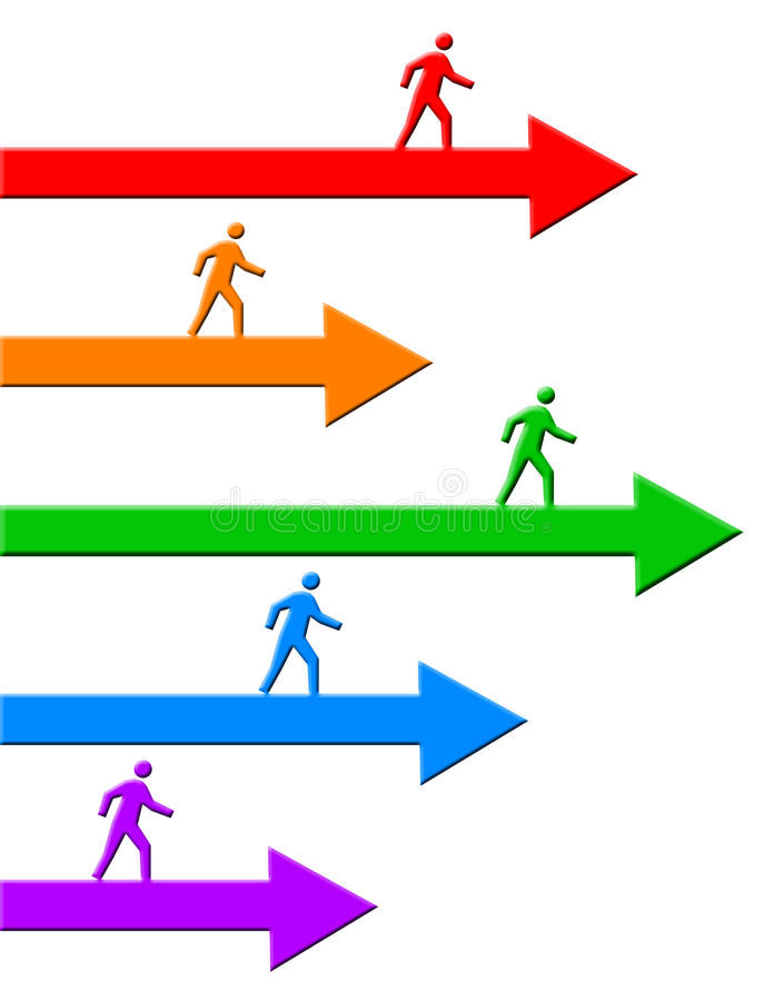 przedni chodzenie ilustracji