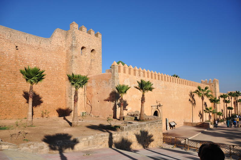 przedni Mohamed Morocco pałacu Rabat royal kwadrat vi zdjęcie royalty free