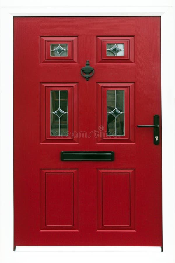 przednia czerwone drzwi zdjęcia royalty free