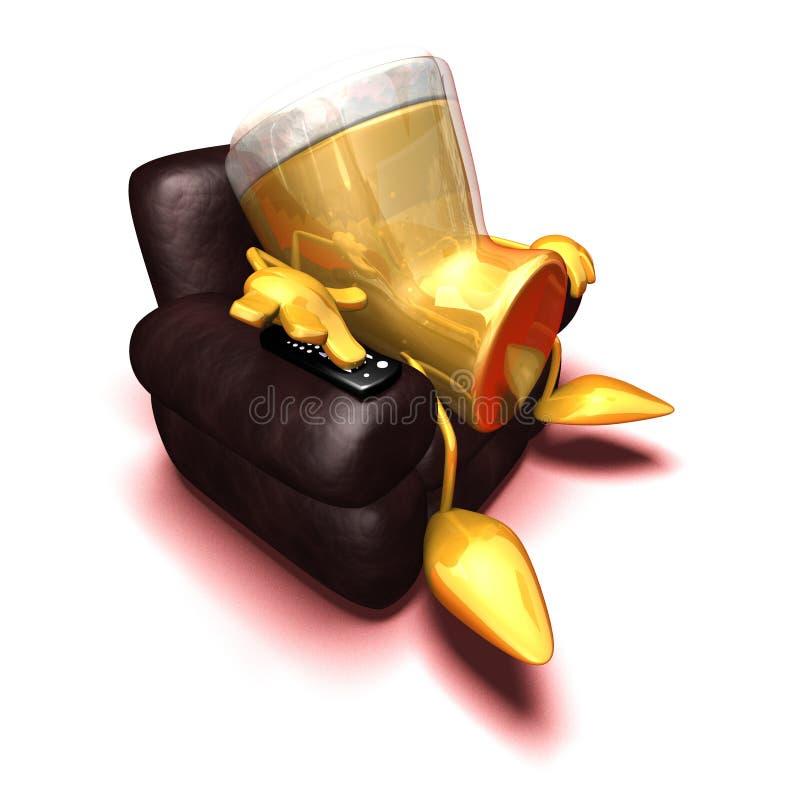 przednie piwo tv royalty ilustracja