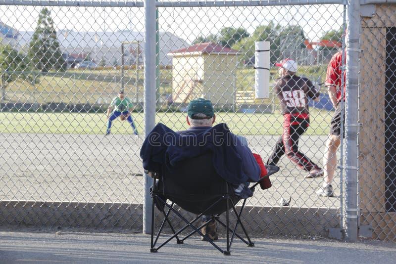 Przedniego Rzędu Seat baseballa gra zdjęcie royalty free