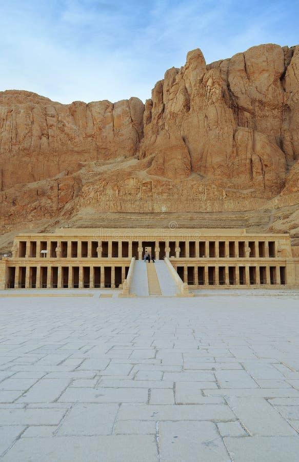 Przedpogrzebowa świątynia królowa Hatshepsut fotografia stock