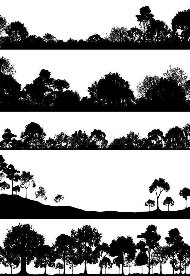 przedpole las ilustracja wektor