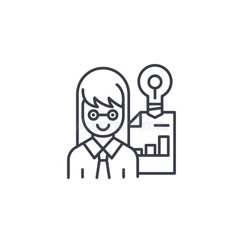 Przedsiębiorca ikony liniowy pojęcie Przedsiębiorcy wektoru kreskowy znak, symbol, ilustracja royalty ilustracja