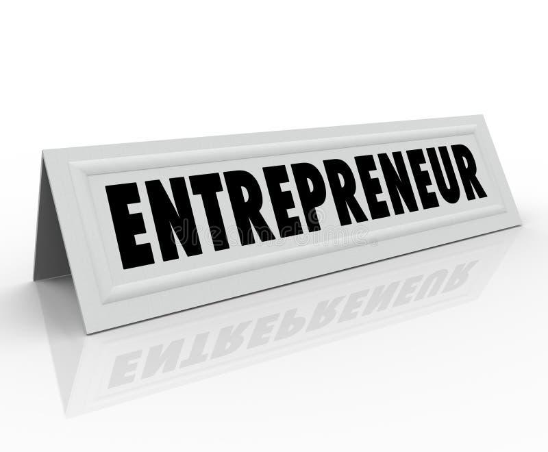 Przedsiębiorcy namiotu karty eksperta Imię biznes royalty ilustracja