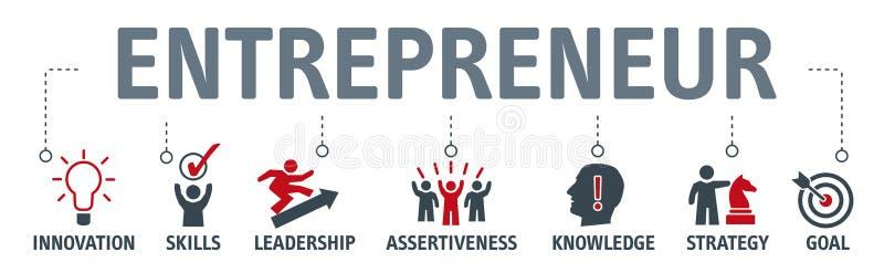 Przedsiębiorcy pojęcie z biznesowymi wektorowymi ikonami ilustracji