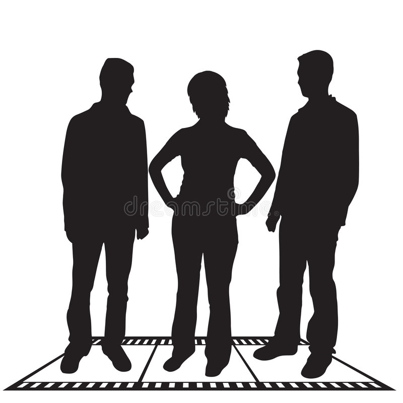 przedsiębiorcy sylwetek royalty ilustracja