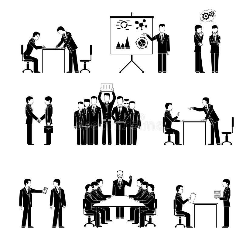 przedsiębiorcy sylwetek ilustracji