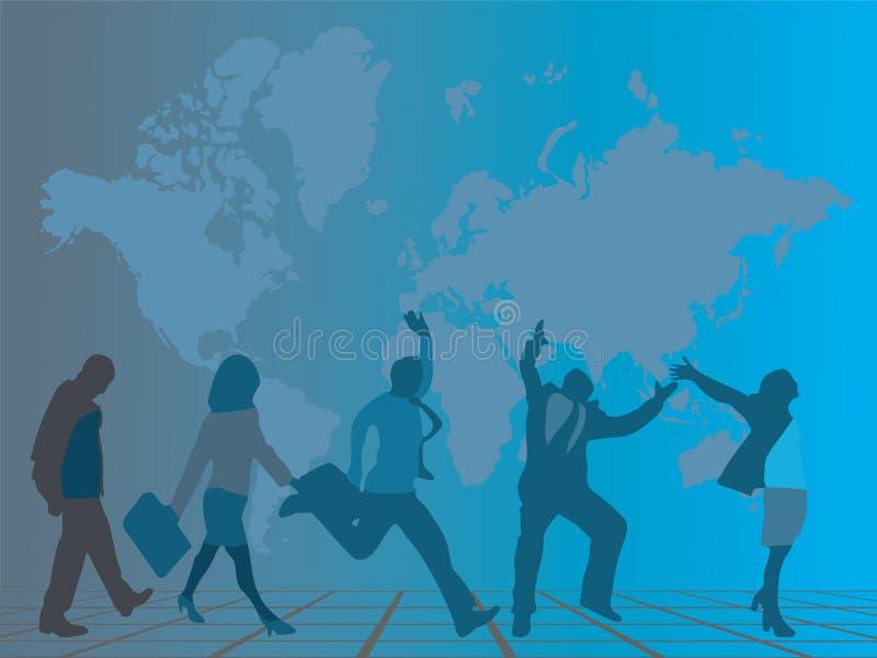 przedsiębiorcy uciekać ilustracji