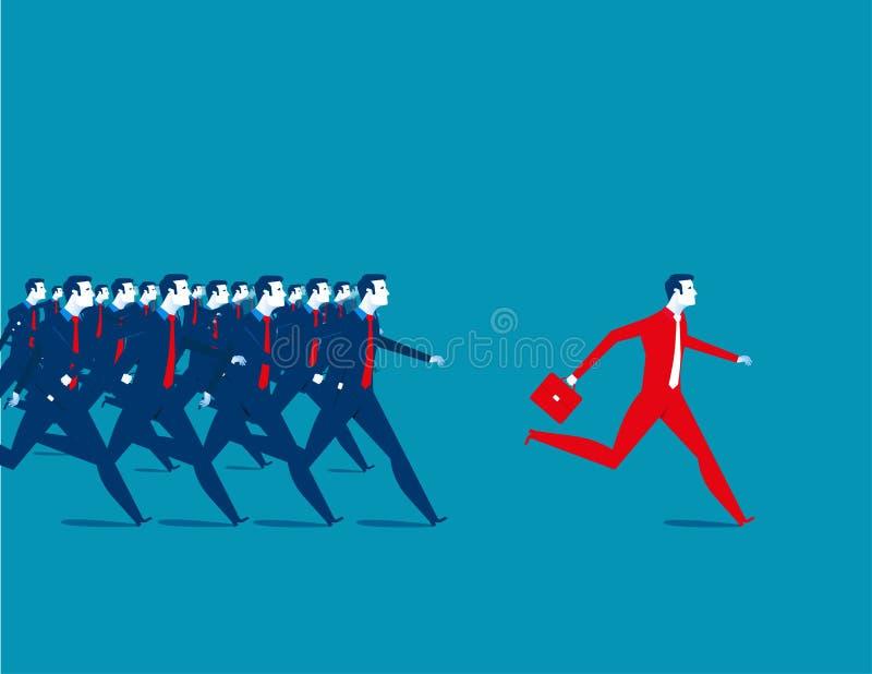 przedsiębiorcy uciekać ilustracja wektor