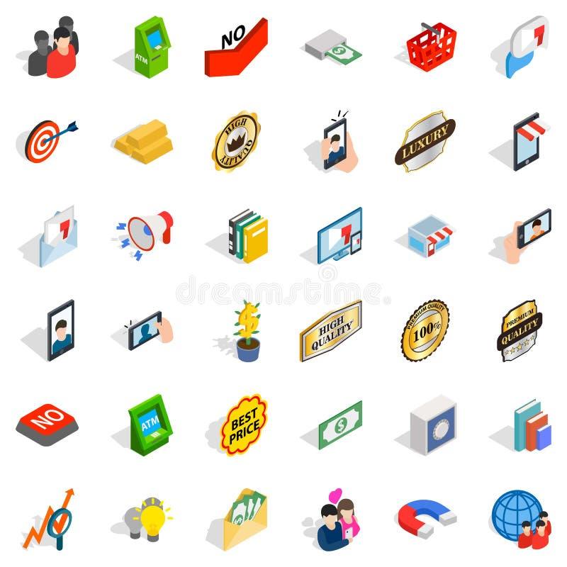 Przedsiębiorczość ikony ustawiać, isometric styl ilustracji