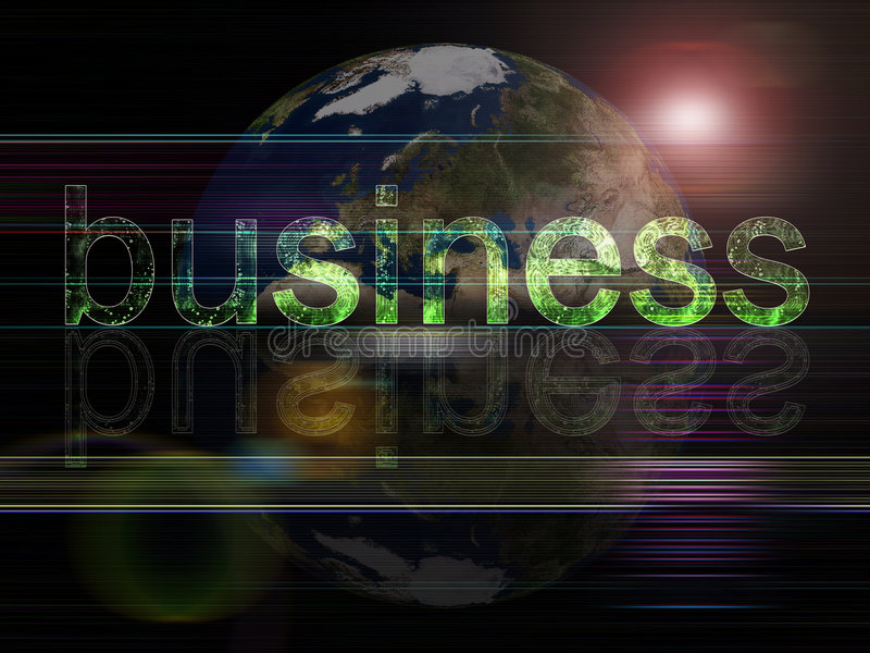 przedsiębiorstw szereg globalnych tło ilustracji