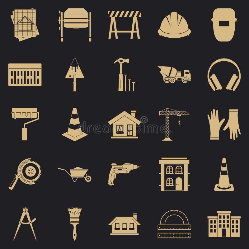 Przedsiębranie ikony ustawiać, prosty styl royalty ilustracja