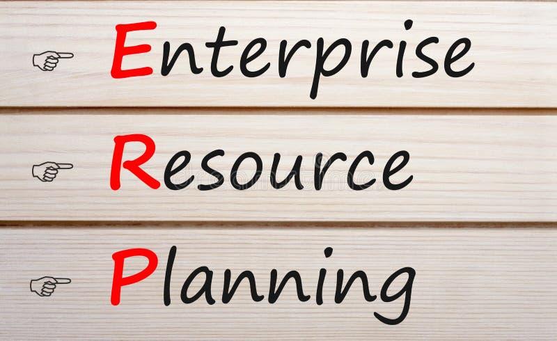 Przedsięwzięcie zasoby planuje ERP pojęcie zdjęcia stock