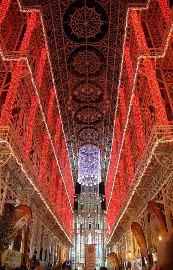 Przedstawienie światła w Fallas fotografia royalty free