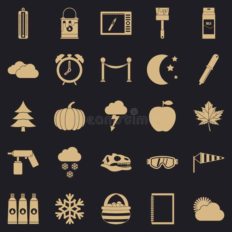 Przedstawienie ikony ustawiać, prosty styl ilustracji