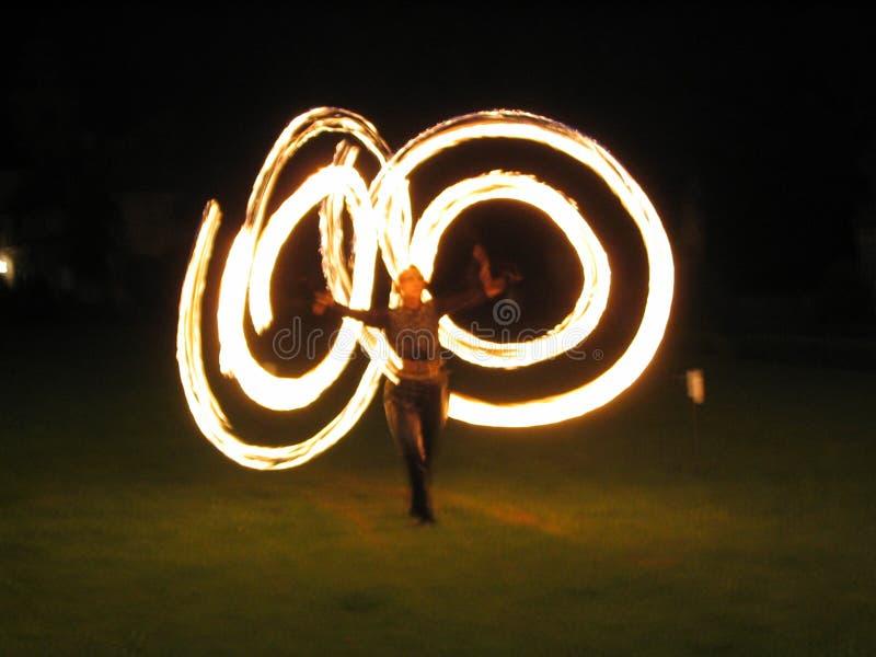 przedstawienie ognia fotografia royalty free