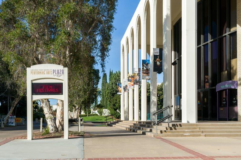 Przedstawienie plac na kampusie San Diego stan Universit fotografia stock