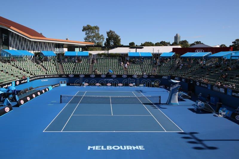 Przedstawienie sąd 2 podczas australianu open 2016 przy Australijskim tenisa centrum w Melbourne parku zdjęcie royalty free