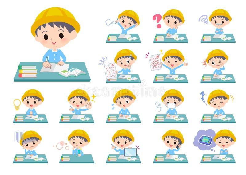 Przedszkole boy_study royalty ilustracja