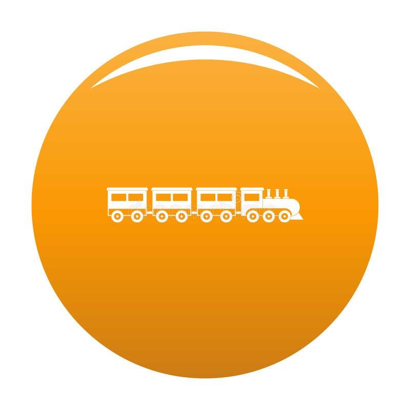 Przedział ikony taborowa pomarańcze ilustracja wektor