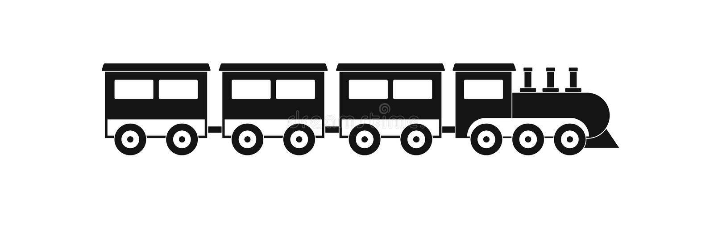 Przedział taborowa ikona, prosty styl ilustracji