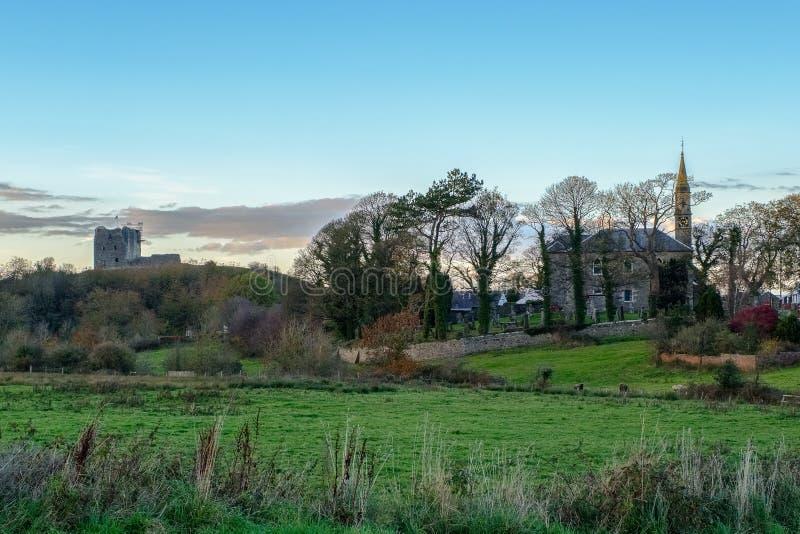 Przegapiać miasteczko Dundonald w Południowym Ayrshire Szkocja obraz stock