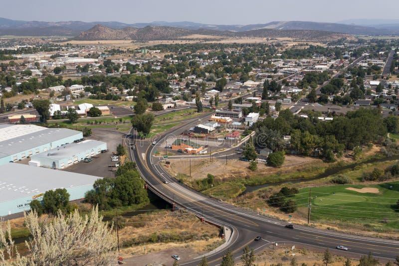 Przegapiać miasto Prineville w Oregon zdjęcia stock