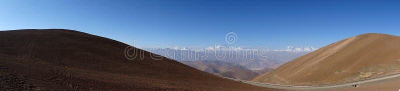 Przegapiać Północną twarzy górę Everest zdjęcie stock