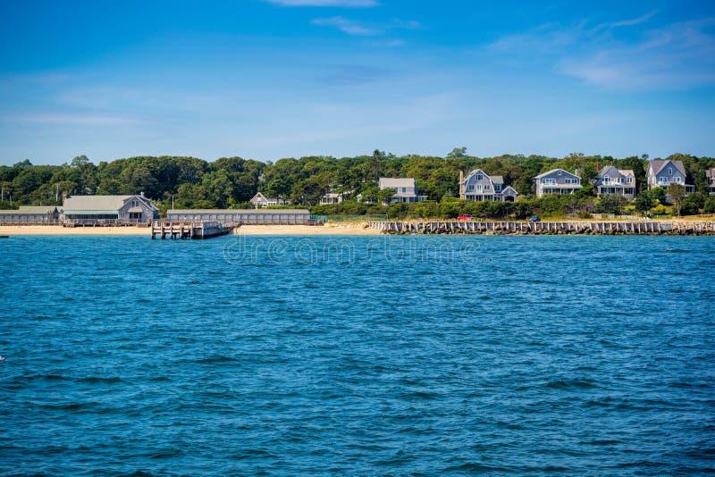 Przegapia widok wyspa w Massachusetts przy Cape Cod martha's vineyard zdjęcia stock