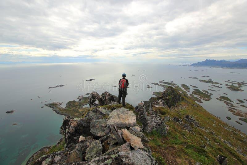 Przegapiający ocean - Norwegia obraz stock