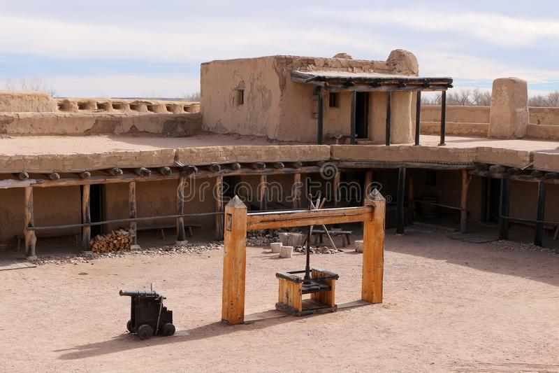 Przegiętego ` s Starego fortu Krajowy Historyczny miejsce zdjęcie stock