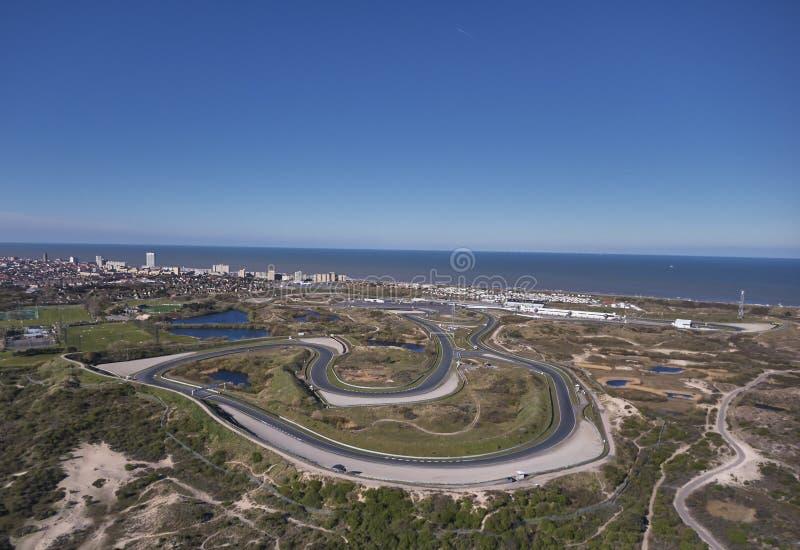 Przegląd całkowity Zandvoort tor wyścigów konnych obwód obrazy stock
