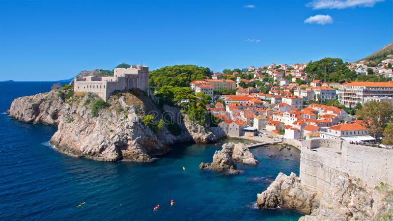 Przegląd St John ` s fort przy Dubrovnik, Chorwacja zdjęcie royalty free