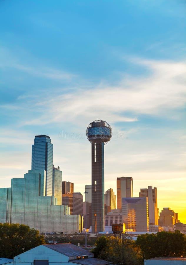 Przegląd w centrum Dallas obraz stock