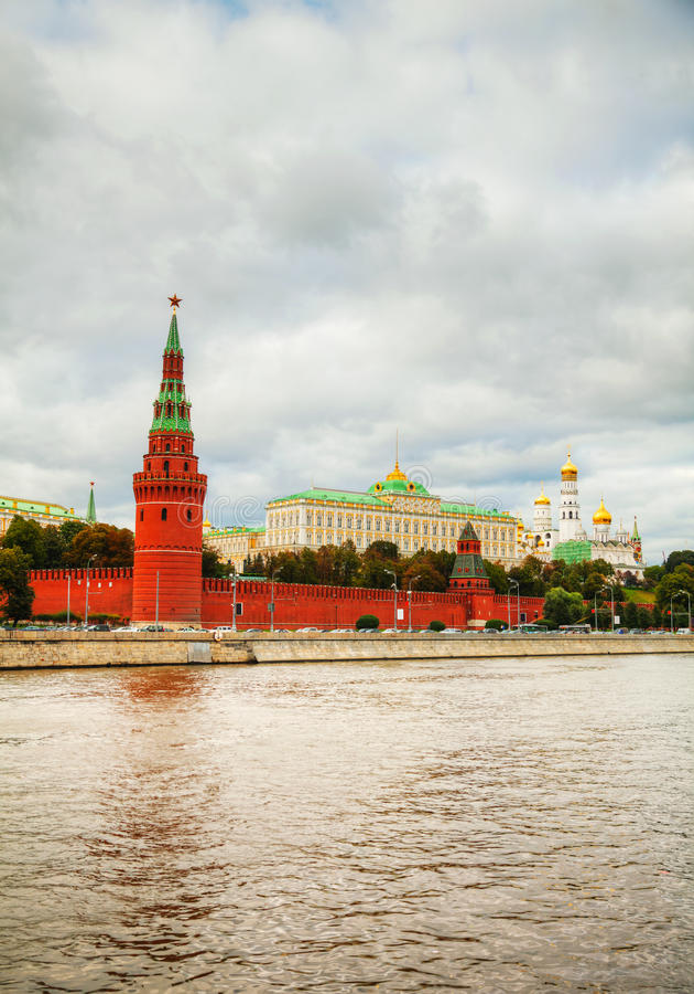 Przegląd w centrum Moskwa obrazy royalty free