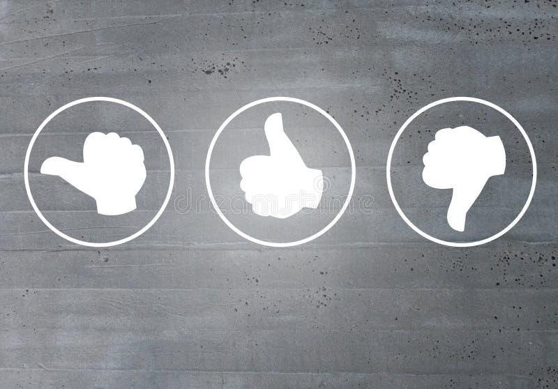 Przegląd z twój kciuk ikon pojęciem zdjęcie royalty free