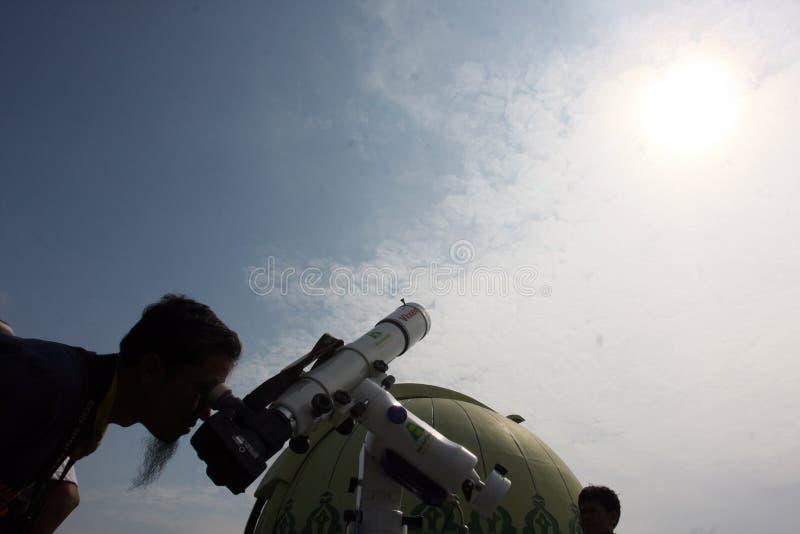 Przeglądać planetę mąci fotografia stock
