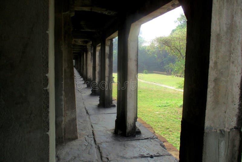 Przegl?da form? wierza Angkor Wat ?wi?tynia, Siem Przeprowadza ?niwa, Kambod?a obrazy stock