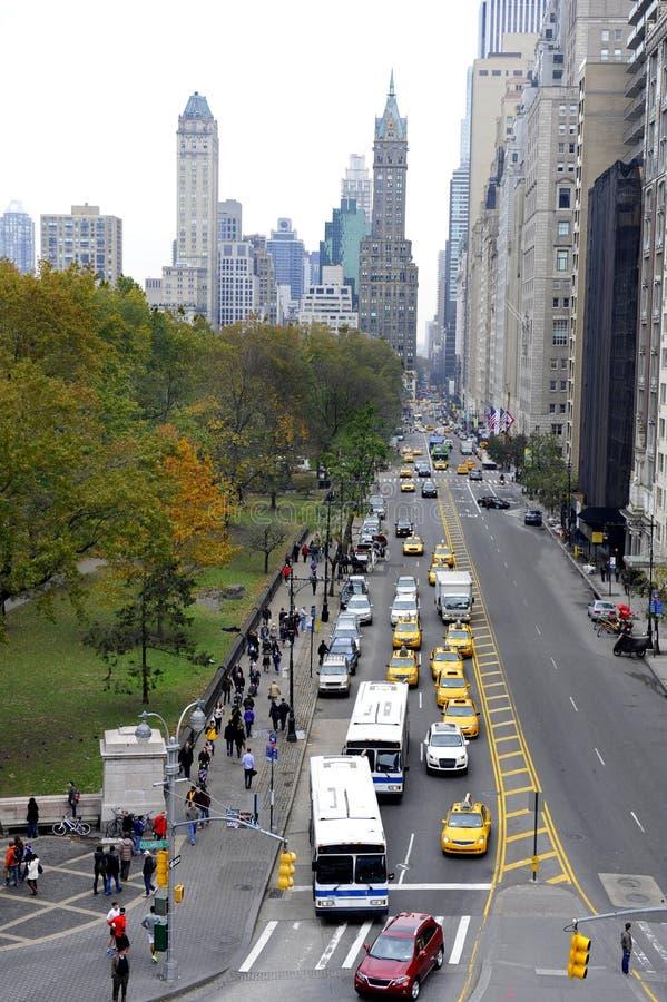 Przegląda przy zachodu 59 th ulicą w Nowy Jork zdjęcie royalty free