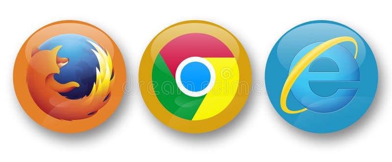 Przeglądarki internetowe ilustracji