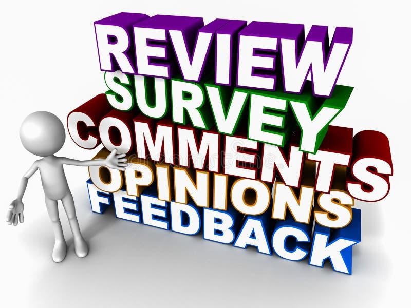 Przeglądowa ankiety informacje zwrotne opinia ilustracja wektor