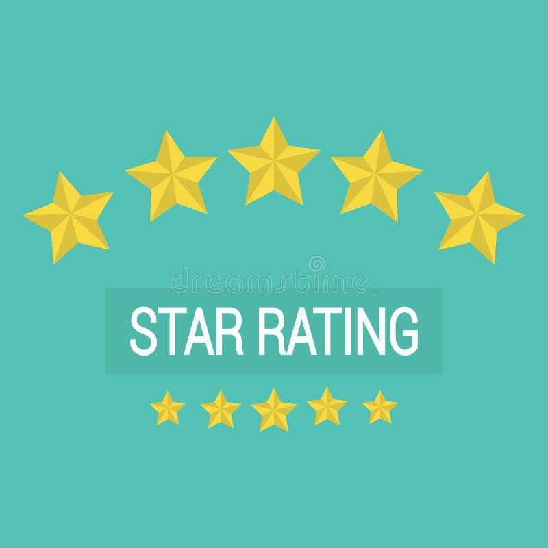 Przeglądowa ocena, klient przegląda gwiazdy tempo ilustracja wektor