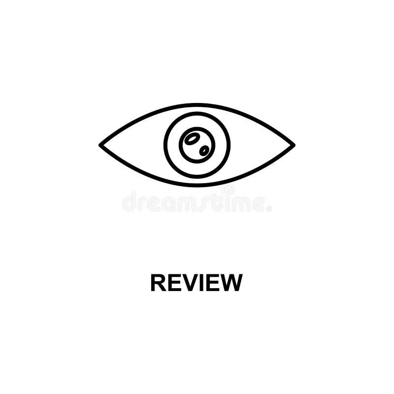 przeglądowa oko ikona Element kino dla mobilnych pojęcia i sieci apps Cienka linia przeglądu oka ikona może używać dla sieci i wi ilustracji