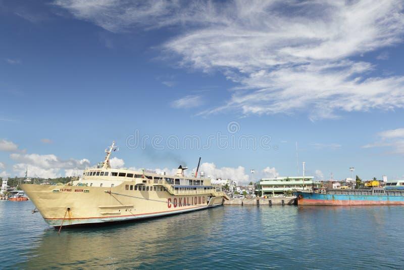 przeglądu Philippines portowy surigao fotografia stock