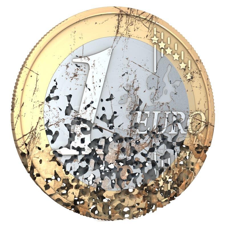 Przegniły euro ilustracji