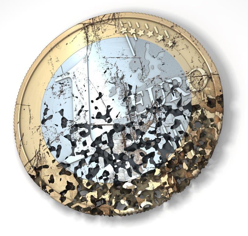 Przegniły euro royalty ilustracja