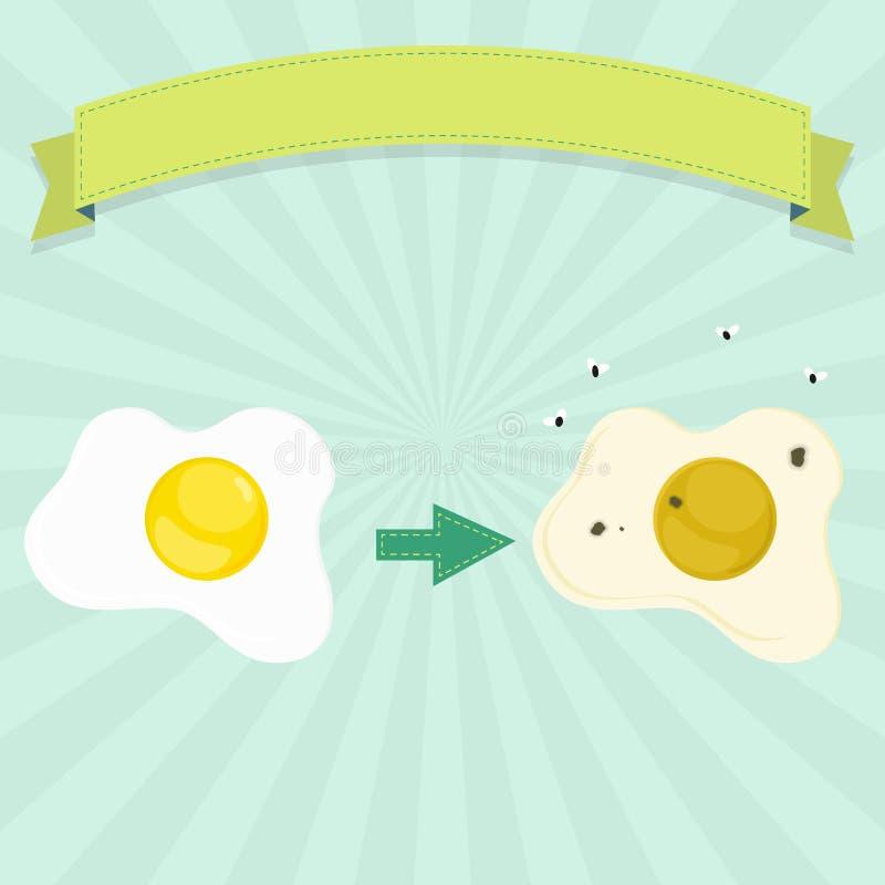 Przegniły jajko ilustracja wektor