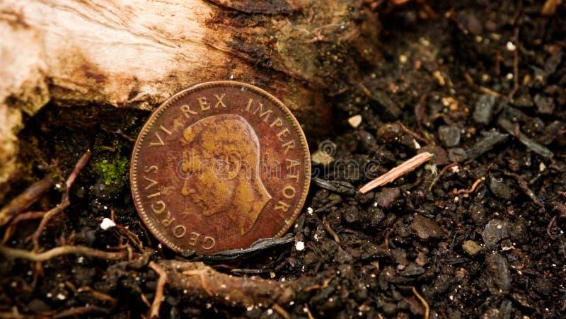Przegrana angielszczyzny moneta obraz stock